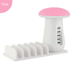 PINK Mushroom  USB Charger for Mobile Phone and Tablets