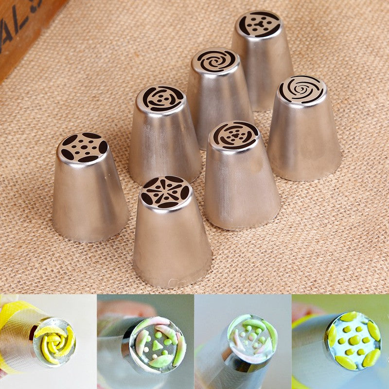 7 PCS Cake Decorating Biscuits  Pastry Nozzels