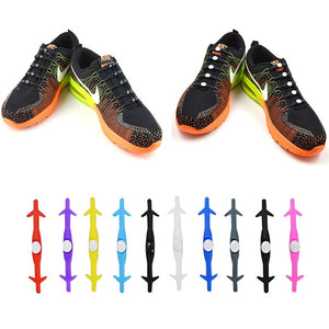 12Pc/Set  Adult Athletic Running No Tie Shoelaces