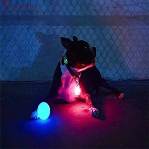 LED Lighting Glowing Rubber Dog Ball Toy Outdoor Training&  Chew Bite
