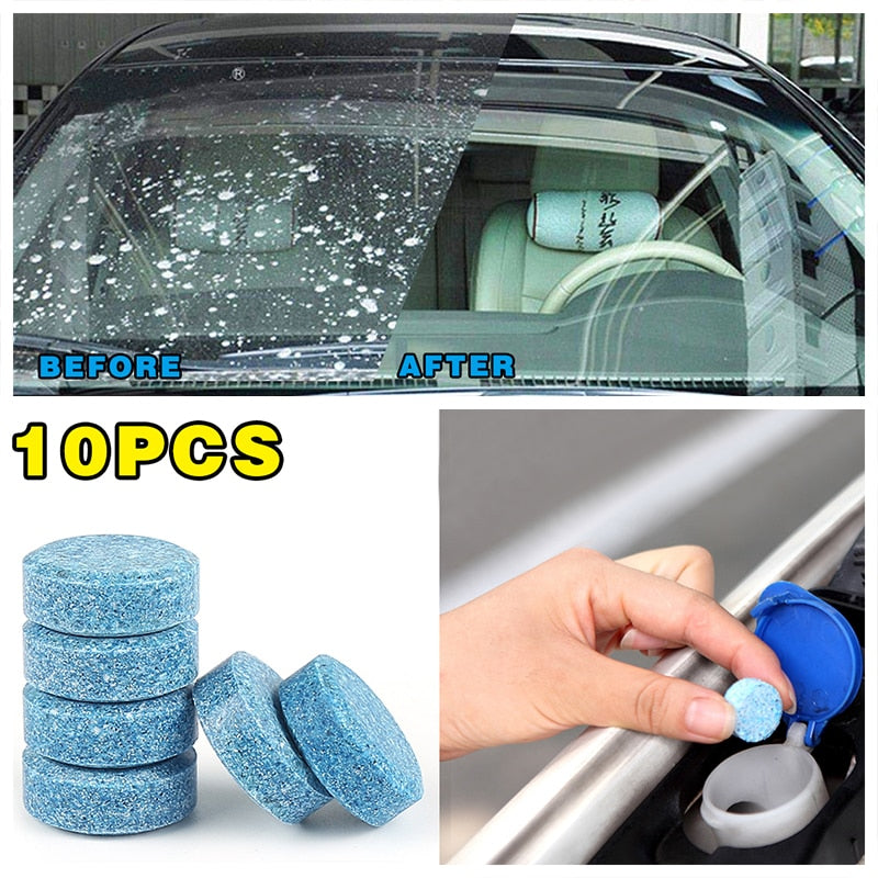 10PCS Super Glass Cleaner Tabs