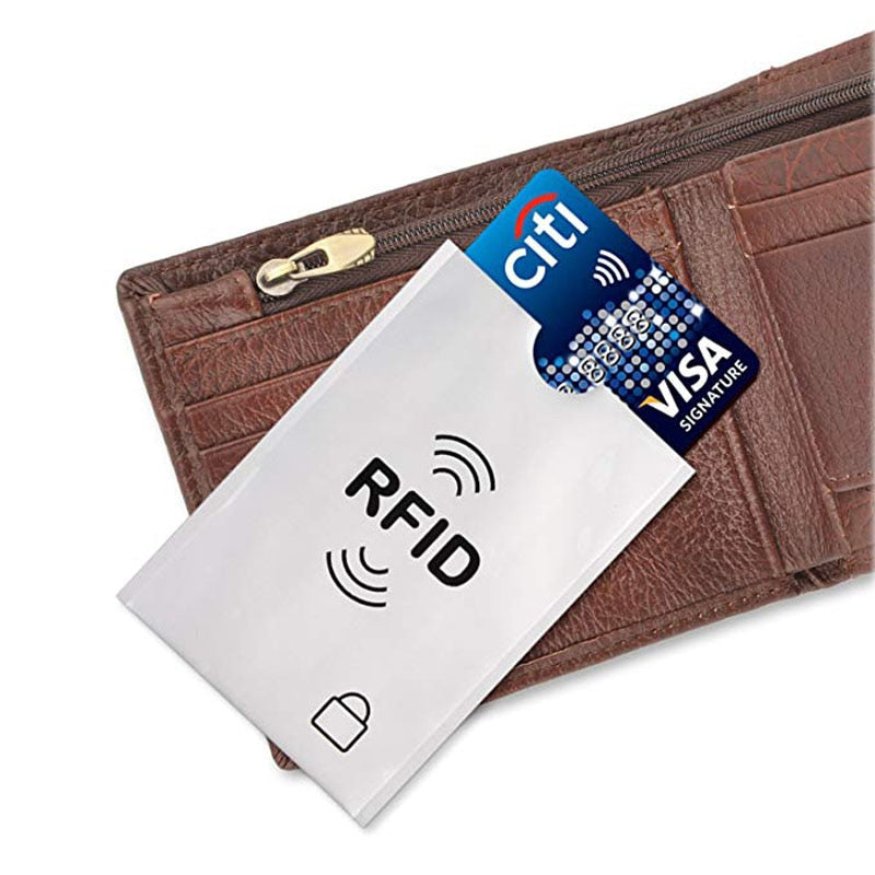 Credit Card Protector - 10 Anti RFID Sleeves