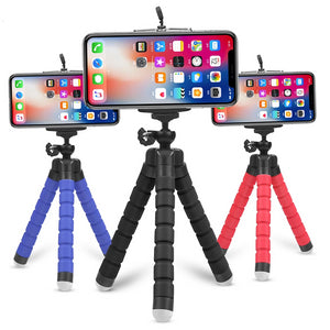 Mini Flexible Sponge Octopus Tripod for iPhone Samsung Xiaomi Huawei Mobile Phone Smartphone Tripod for Gopro 8 7 5 Camera