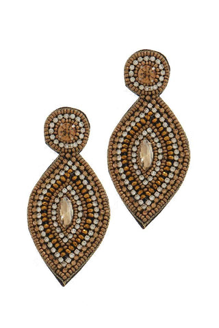Tribecca Golden Hue Statement Earrings