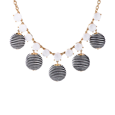 Mimi Threaded Ball Statement Necklace
