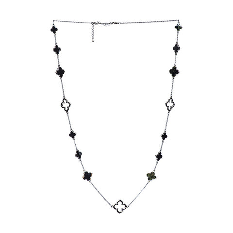 Brigitte Clover Long Necklace