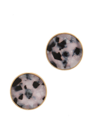 Maxie Oversized Acetate Circle Studs