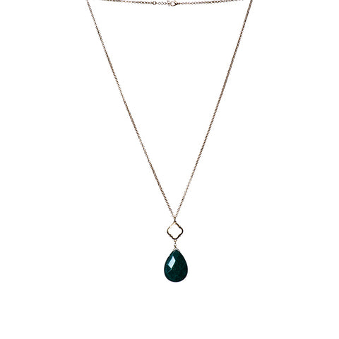 Susie Teardrop Stone Long Necklace