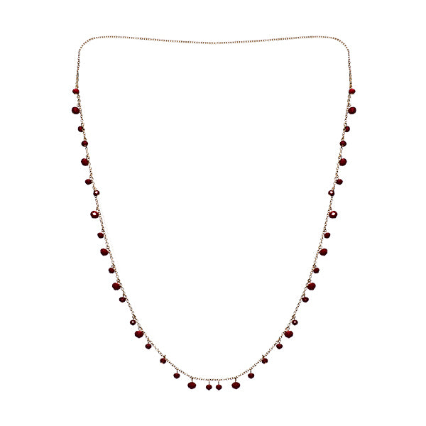 Lourdes Red Bead Classic Chain Necklace