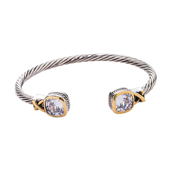 Kinsley Clear CZ Cuff Bracelet