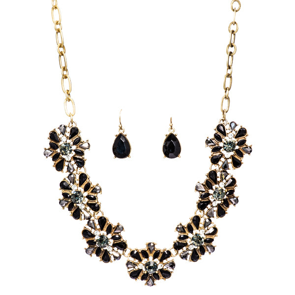 Charlotte Black Crystal Necklace
