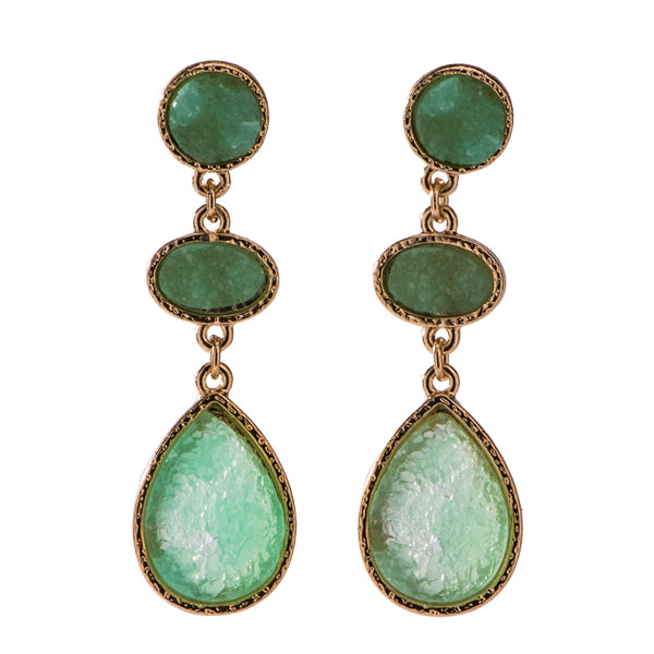 Jolie Mint Druzy Earrings