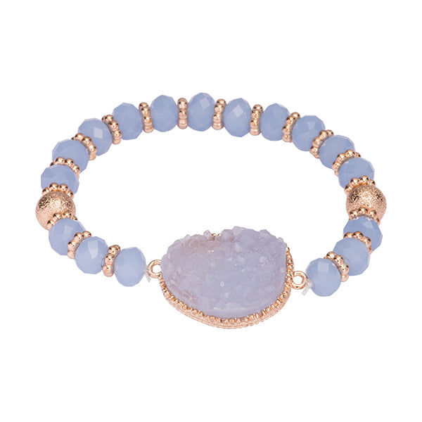 Olivia Light Blue Druzy Bracelet
