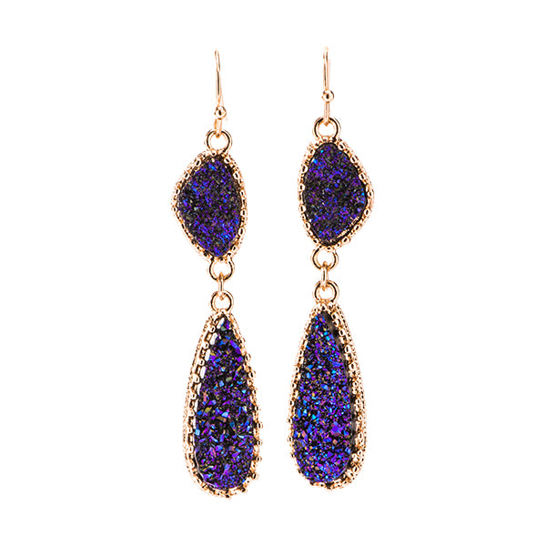 Harlow Blue Druzy Earrings