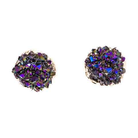 Kayla Druzy Ball Stud Earrings