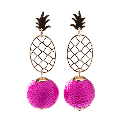Pineapple Ball Statement Earrings
