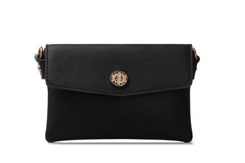 Calista Solid Envelope Clutch Crossbody Bag