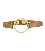 Jen Bronze Leather O Bracelet