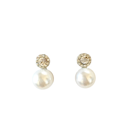 Caydence Pearl and CZ Crystal Earrings