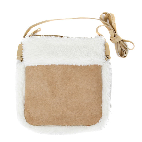 Mary Sherpa and Faux Suede Cute Purse - 3 colors