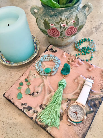 Brooke Green Druzy Necklace