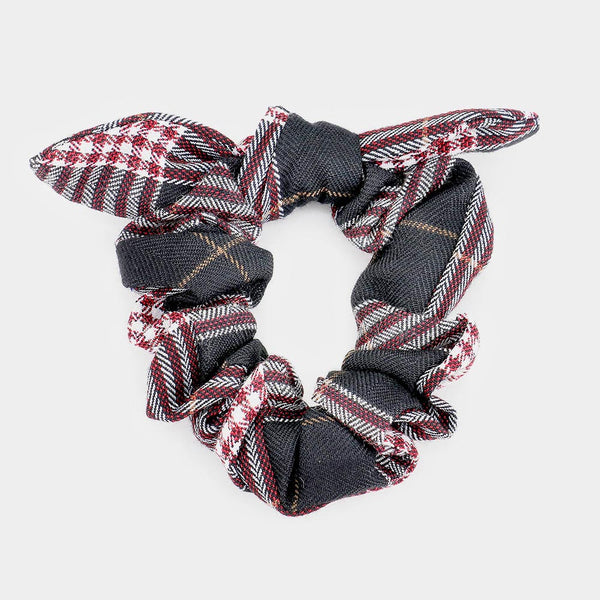 Danni Winter Plaid Bow Scrunchie