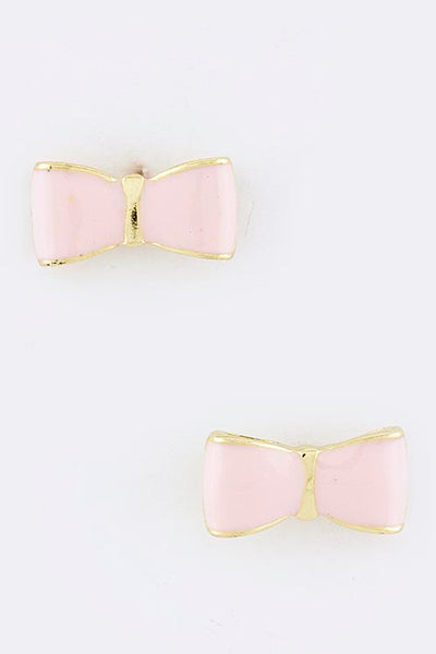 Emily Painted Bow Stud Earrings