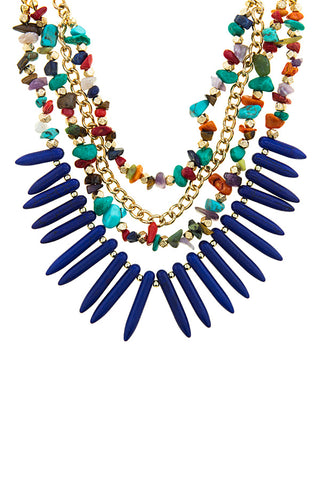 Jacinta Spiky Stone Necklace Set