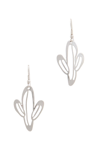 Tucson Silver Cactus Earrings