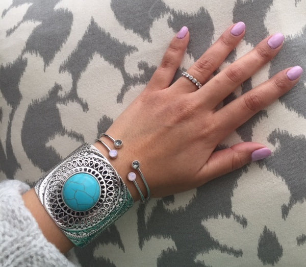 Kenzie Turquoise and Silver Cuff Bracelet
