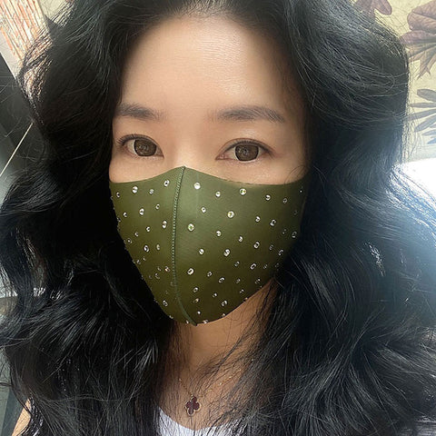 Crystal Studded Breathable Face Mask