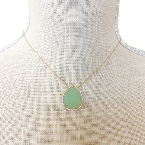 Makenna Mint Stone Necklace