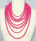 Layne Bold Multi Strand Bead Necklace