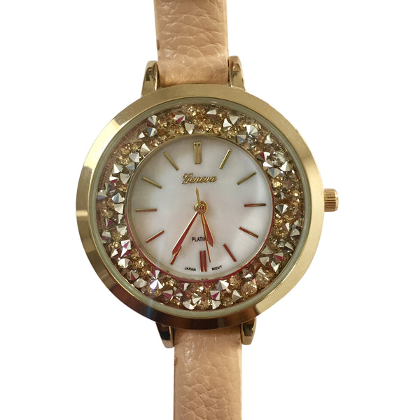 Posha Nude Crystal Face Watch