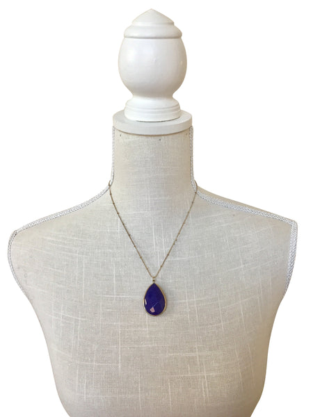Quinn Cobalt Blue Stone Necklace