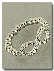 Delilah Crystal Infinity Ring