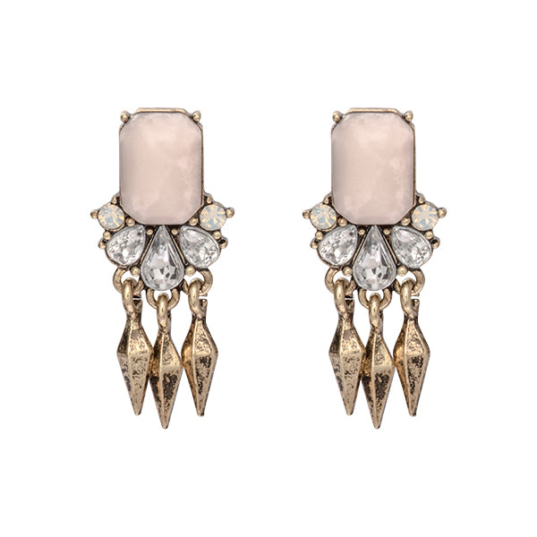 Mindy Blush Pink Fringe Earrings