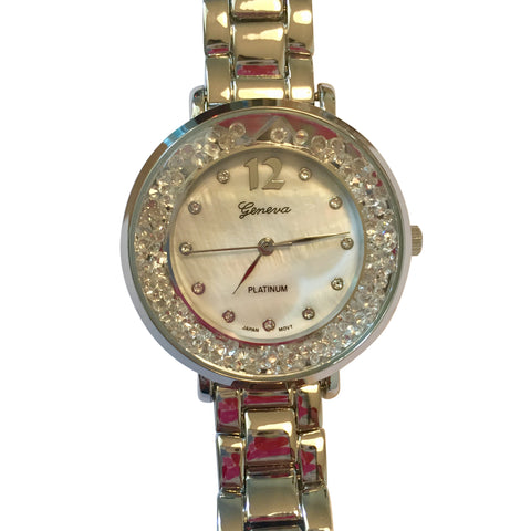 Isabel Silver Floating Crystal Watch
