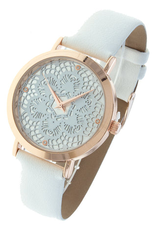 White Mandala Face Watch