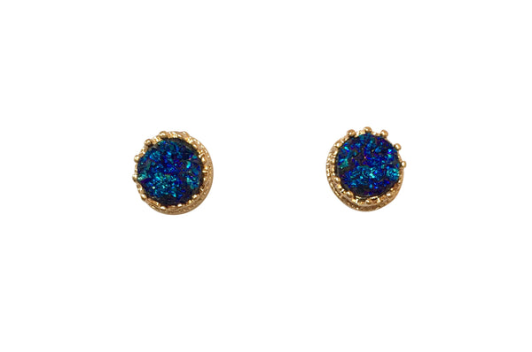 Haven Small Blue Druzy Earrings