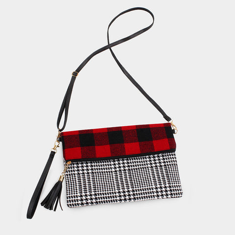 Fancie Plaid and Houndstooth Bag
