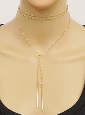 Candace Twisted Metal Chain Choker