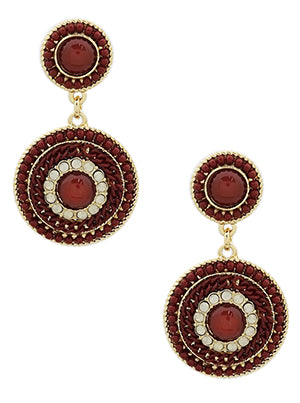 Emilia Elegant Double Beaded Drop Earrings