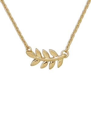 Brooklyn Delicate Leaf Necklace - silver or gold!