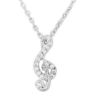 Rachel Trebel Clef Crystal Delicate Necklace