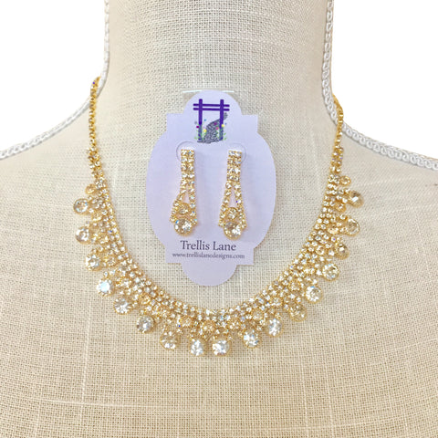 Gemma Crystal Bridal Necklace Set