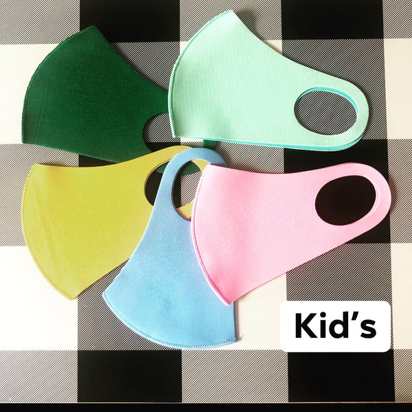 Kid's Solid Poly Face Mask