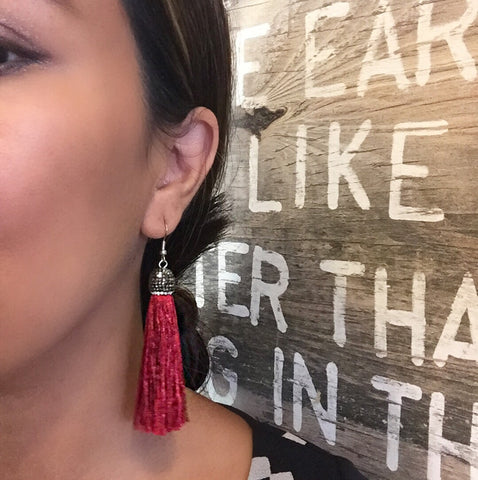 Isolde Bling Festive Statement Tassel Earrings