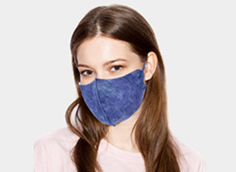 Denim Printed Poly/Spandex Reusable Face Mask