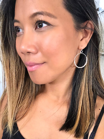 Ayla Delicate Dangle Metal Hoops